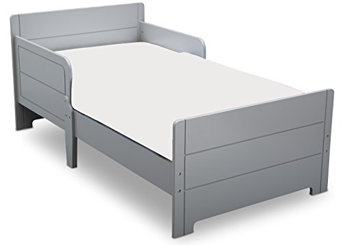 (Delta Children MySize Toddler Bed, Grey )
