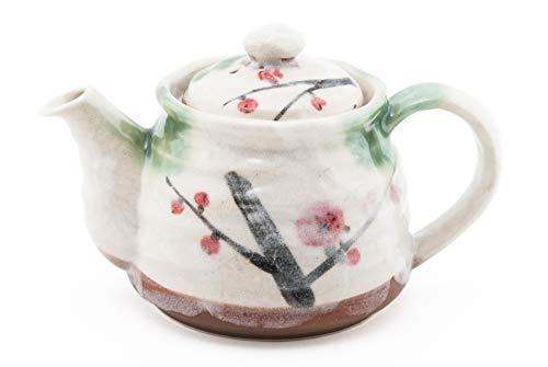 本物の日本の装飾陶器 ティーカップとソーサーセット 5.5液量オンス アフターノン ティーチャワン ミノ ティーカップ テクスチャ グレーズ フローラルデザイン 日本製 3.5 Diameter B07HPBV7KH Cherry Blossoms Pot