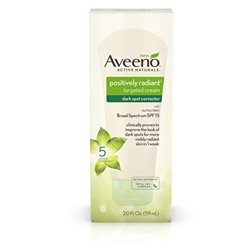 Aveeno Positively Radiant Targeted Cream Dark Spot Corrector with SPF 15 Sunscreen & Moisture-Rich Soy Complex