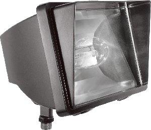 RAB Lighting FF70 High Pressure Sodium HID Future Floodlight, ED17 Type, Aluminum, 70W Power, 6400 Lumens, 120V, Bronze Color