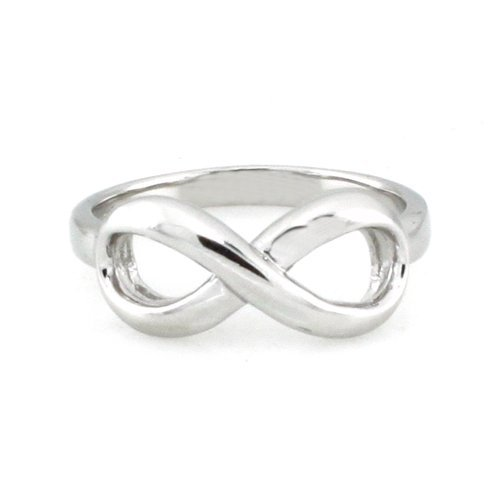 925 Sterling Silver Infinity Symbol Wedding Band Ring, Nickel Free Sz 9 by Metal Factory (Image #1)