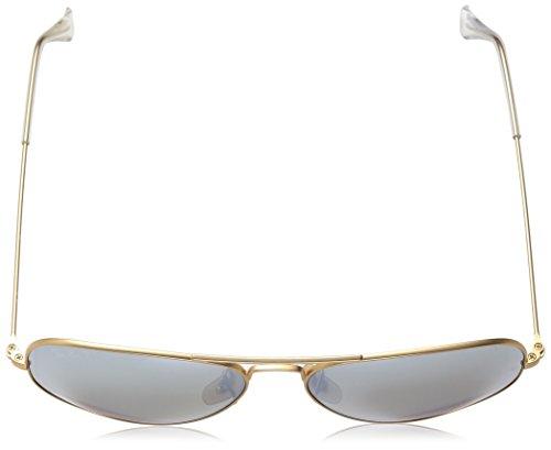 Dorado para Large Hombre Gafas Metal Flash Ban Silver Aviator Ray sol de RqwznB6
