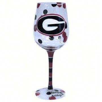 NCAA Georgia Bulldogs Drinkware Wine Glass, 12 oz/One Size, Multicolor (U-ga Gifts)