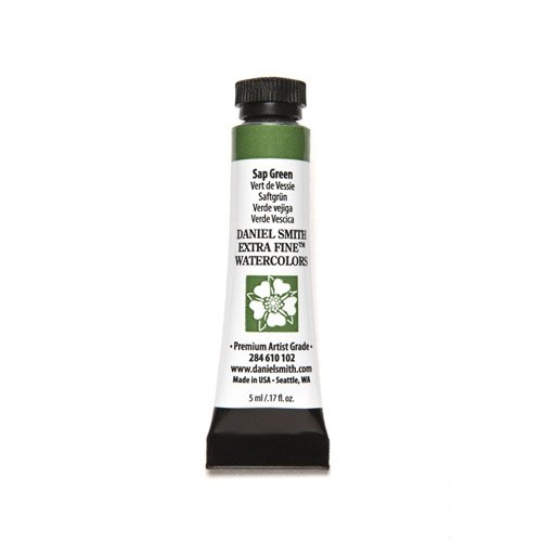 DANIEL SMITH 284610102 Extra Fine Watercolors Tube, 5ml, Sap Green