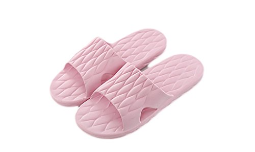 Haolong - Zapatillas de estar por casa para mujer Red