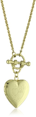 1928 Jewelry Brass Heart Toggle Locket -