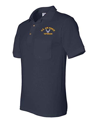U.S. Air Force Hap Arnold Wings Veteran Pocket Polo Navy Blue