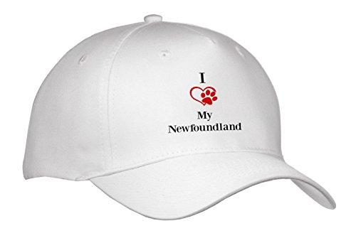 BrooklynMeme Pet Sayings - I love my Newfoundland - Caps - Adult Baseball Cap (Newfoundland Baseball Cap)