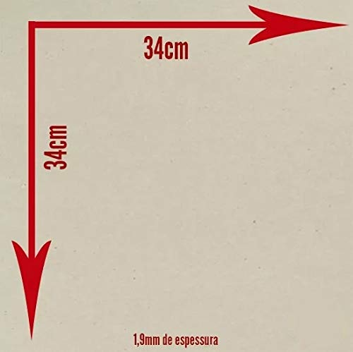 Placa De Papelao Cinza - Holler 1,9Mm C/ 5 Unidades