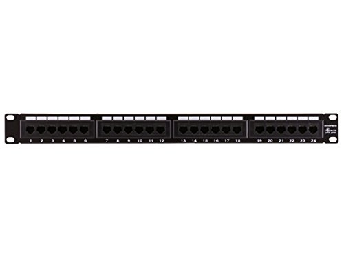 Monoprice 107253 110 Type 24-Port Cat6 Patch Panel (568A/B Compatible) (Wiring 568a/b)