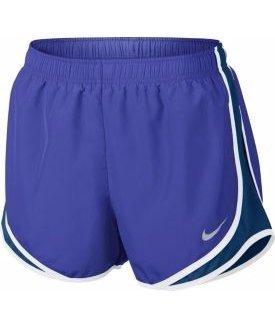 Nike Femmes Humidité Mèche Couleurblock Shorts Para Blu / Binaire Blu / Wo Gr