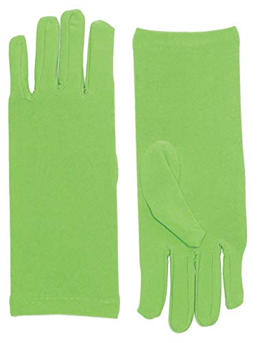 Forum Novelties Women's Novelty Short Dress Gloves, Light Green, One Size -
