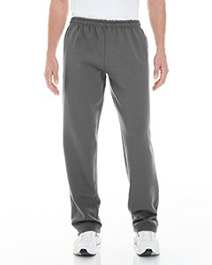 Gildan Adult Heavy Blend 8 Oz Open-Bottom Sweatpants With Pockets - Charcoal - 5XL - (Style # G183 - Original Label)
