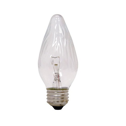 GE Lighting 75337 25 Watt Clear Flame Decorative Light Bulbs 2 Pack