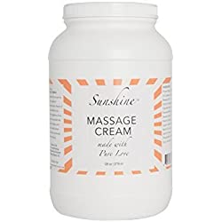 Sunshine Massage Cream, 1 Gallon - made with Natural Ingredients for an Earth-Friendly & Relaxing Massage