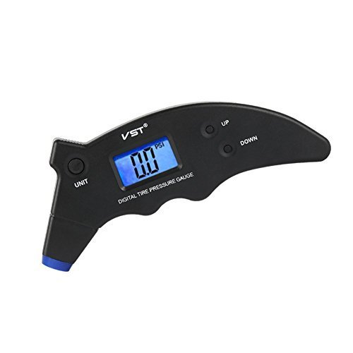 (Upgraded Version)Tire Pressure Gauge, Digital Tire Gauges 150 PSI 4 Settings Backlight LCD Display and Non-slip Grip for Bike, Bicycle, Car, Truck, SUV - Dolphin Design
