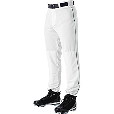 Baseball Pant with Piping - Youth White/Black/LRG (Youth Medium)