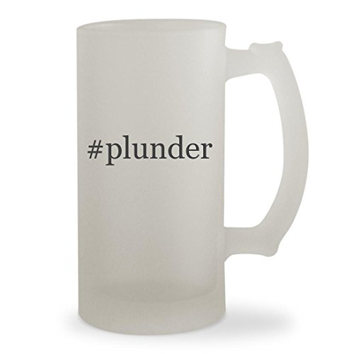 #plunder - 16oz Hashtag Sturdy Glass Frosted Beer Stein