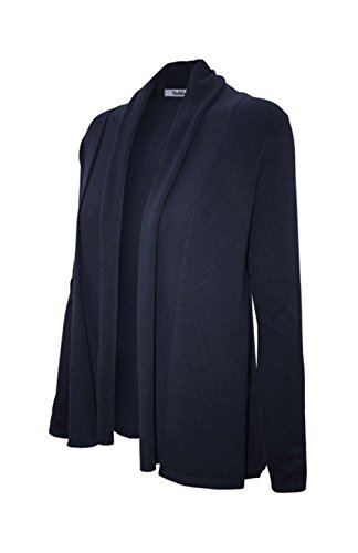 - 2LUV Women's Long Sleeve Open Front Shawl Knit Cardigan Navy XL