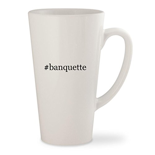 #banquette - White Hashtag 17oz Ceramic Latte Mug Cup (With Storage Banquette Dining Sets)