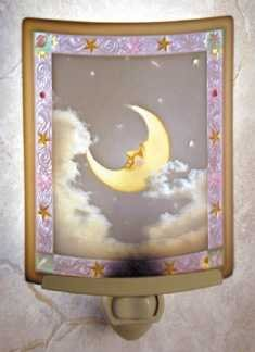 Man in the Moon Colored Lithophane Night Light