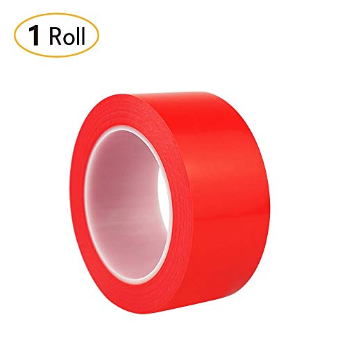 "Xhuan 1Roll Red Vinyl Striped Tape Floor Flagging Tapes Safety Marking for Carpet Outdoor Electrical 1.8"" 36yd(Red )"