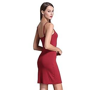 Women's Long Spaghetti Strap Cami Active Basic Camisole Slip Dress 27