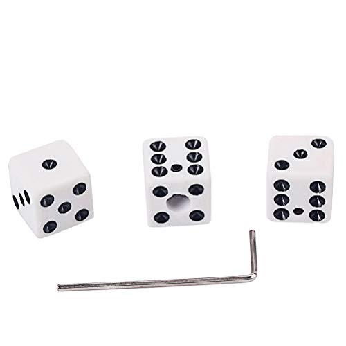 Healifty Dice Shaped Control Knobs with Truss Rod Wrench Fit Split Shaft Gibson Gretsch Fender Guitars (White)