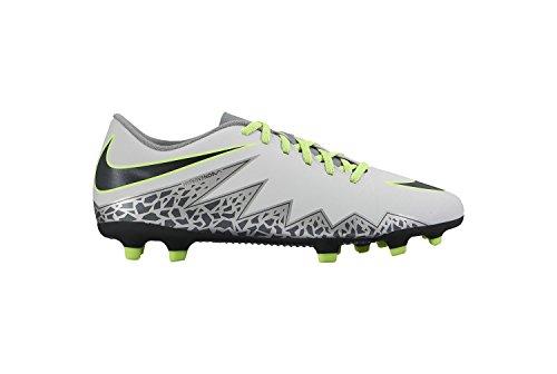 Nike Hypervenom Phade Ii Fg, Botas de Fútbol para Hombre Plateado (Pure Platinum / Black-Ghost Green)