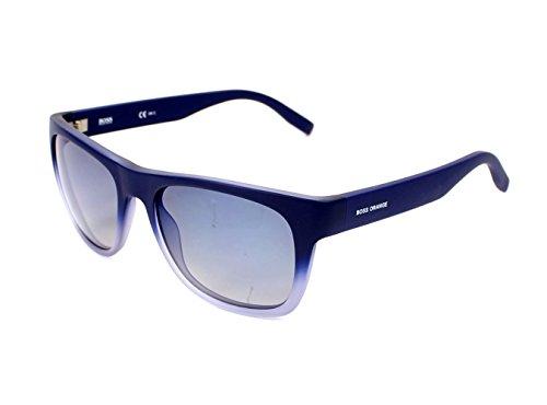 Boss Orange BO 0249/S QWODK (Matt Blue - Transparent Blue sky with Brown Gradient - Boss Sunglasses Blue Orange