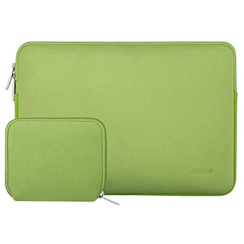 MOSISO Water Repellent Neoprene Sleeve Bag Cover Compatible with 13-13.3 inch Laptop with Small Case, Greenery