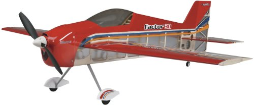 Great Planes Factor 3D Radio Controlled Electric-Powered Almost Ready-to-Fly One Meter Sport (Remote Controlled Rc Aerobatic Plane)