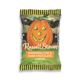 Russell Stover Dark Chocolate, Marshmallow Pumpkins, 1 Ounce,
