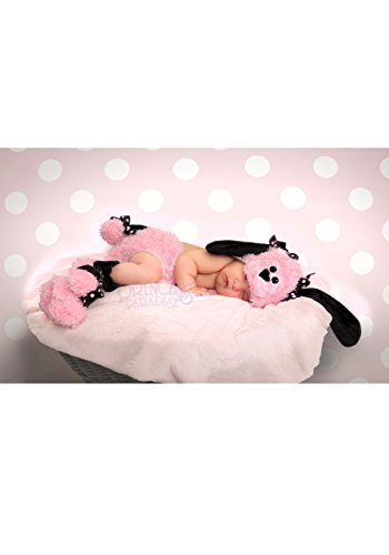 Princess Paradise Baby Girls' Pinkie Poodle Deluxe Diaper Cover Set, Pink, 0/3M (Poodle Cover)