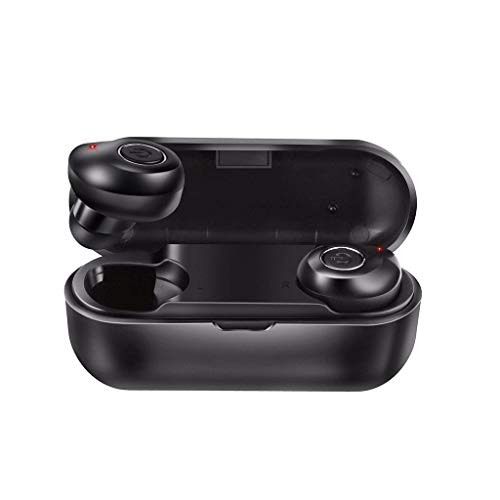 Rocketed Mini Twins Bluetooth Earbud,V5.0 Stereo Wireless Bluetooth Headphones with Built-in Mic,Invisible Noise Cancelling in-Ear Earphone Car Headset for iPhone Samsung and Android Phones