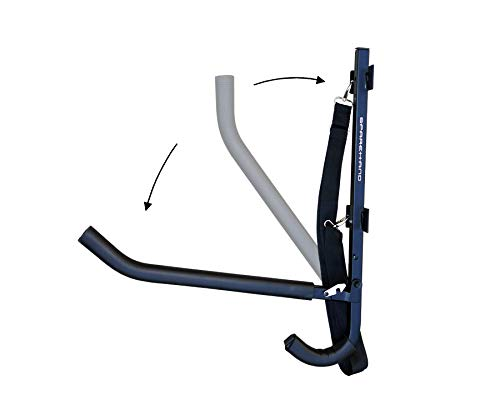 Sparehand Single Kayak//SUP Foldable Wall-Mount Storage Rack with Paddle Holder and Safety Strap Stoneman Ave Corp KC-12
