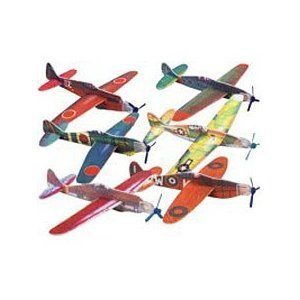 FOAM WWII ASSORTED GLIDERS (BOX of 12 different planes 48 in total) - Foam Glider