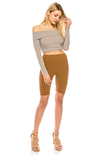 ALWAYS Bike Shorts Women Leggings - High Waisted Buttery Premium Soft Stretch Workout Yoga Running Gym Pants Gold Mustard One Size