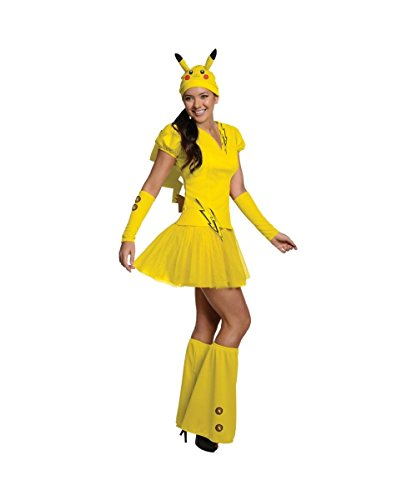 Pokemon Pikachu Adult Womens Sexy Costume Dress (Sexy Pokemon Costumes)