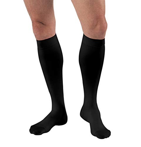 JOBST for Men Knee High Closed Toe Compression Stockings, High Quality, Extra Firm Legware for All Day Comfort for Males, with Odor Control Technology, Compression Class- 30-41
