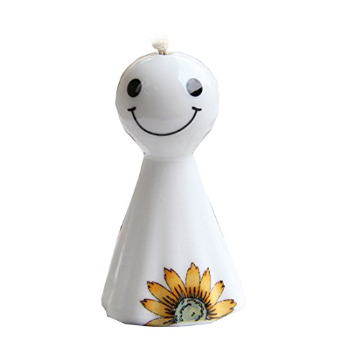 Funeral Doll - HBOS Sunny Day Doll Jingdezhen Ceramic Wind Bell Crafts Wind Chimes 2.6x1.6x1.6inch