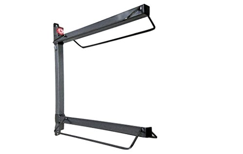 Equiracks Saddle Rack Wall Mount Portable 2 Arm Steel Gray WMSR02 by Equi-Racks