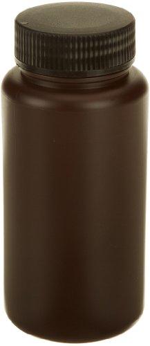 Dynalon Azlon 301645-0016 High Density Polyethylene Amber Wide Mouth Sample Bottle with Screw Cap, 500mL Capacity (Case of 48) (Density High Bottles Polyethylene)