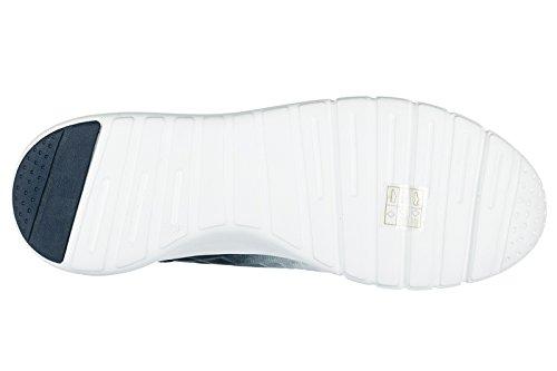 Emporio Armani EA7 scarpe sneakers uomo nuove originale 3D simple bianco