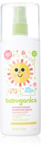 Babyganics Mineral Based Sunscreen Spray - SPF 50+ - Fragrance Free - 6.0 oz