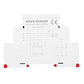 GRV8-05 Voltage Monitoring Relay 3-Phase Voltage Sequence Phase Failure Protection with LED Indicators M460