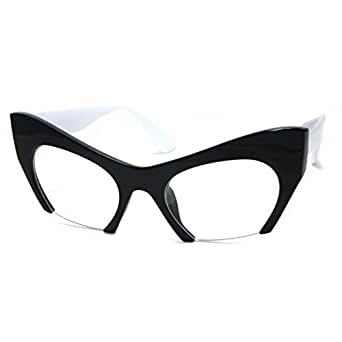 Amazon.com: RETRO Hign Bottom Cut Women Cat Frame Clear