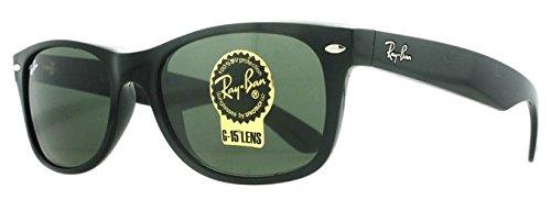 RB2132 New Wayfarer Sunglasses Black w/Green (901L) RB 2132 901L 55mm Authentic