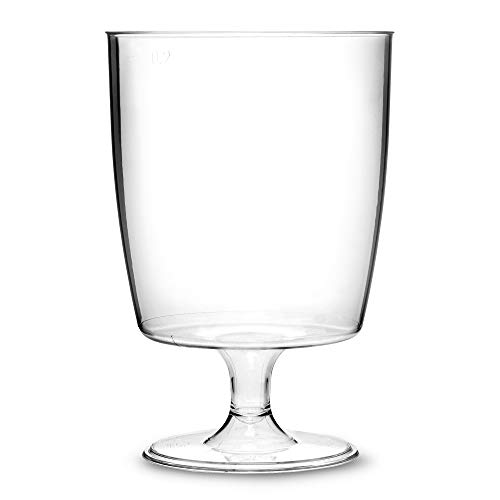 6cdffd050eb One piece disposable plastic wine glasses (200ml) - pack of 50:  Amazon.co.uk: Business, Industry & Science