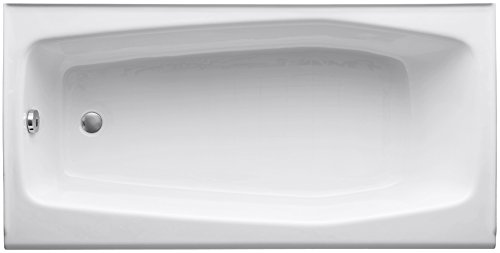 KOHLER K-715-0 Villager Bath with Left-Hand Drain, White ...